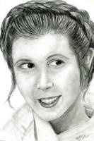 portrait 0003 Carrie Fisher by dc58