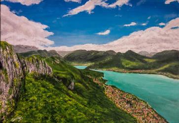 Lac d'Annecy depuis le Mont Veyrier by dc58