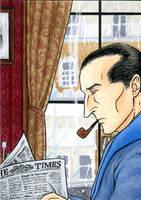 Sherlock Holmes - ACEO by KaizokuShojo