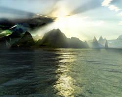 Terragen - Fog of War by tigaer