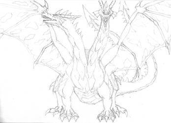 Two Headed Dragon Front by scharkaan