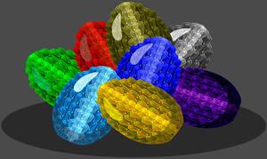 Elemental Dragon Egg Pile by Occavatra