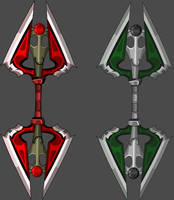 Double Axe Blades by Occavatra
