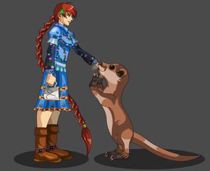 Maegwyn and an Otter Bond by Occavatra