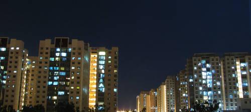 HDB Night by frenic