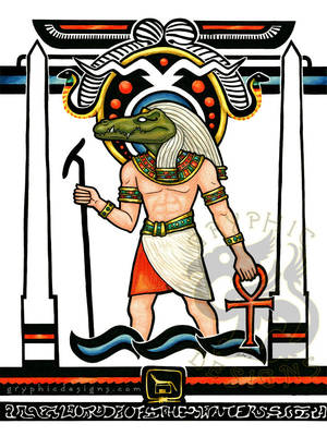 Egyptian Nouveau Sobek by leiko