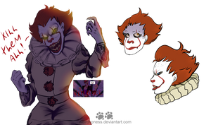 Clown Daddy / Pennywise doodles. by weirdlioness