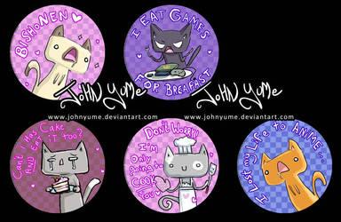 Cats button sample by JohnYume