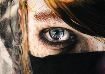 Ninja Stare by dAportraiteures