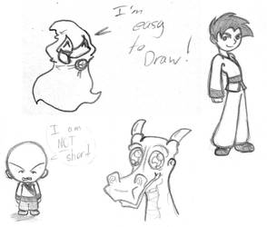 Some Random Character Doodles by Archer01