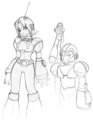 Megaman X related sketches by Archer01