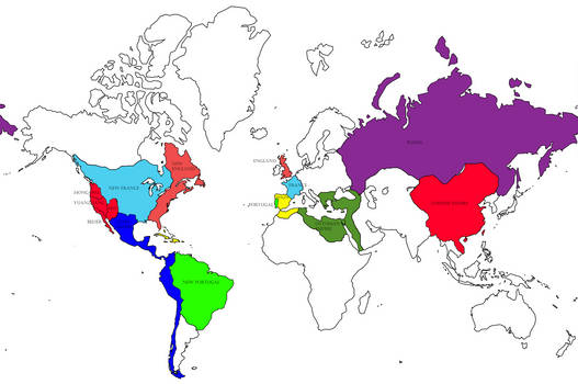 Alternate World Map 1700 By Art5ec On Deviantart