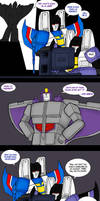 Astrotrain and WoW by Comics-in-Disguise