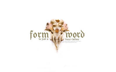form is just a four letter... by i-doru