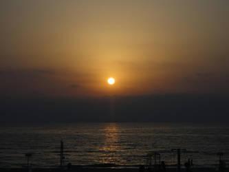 Ashdod sunset - Dark by BLA777
