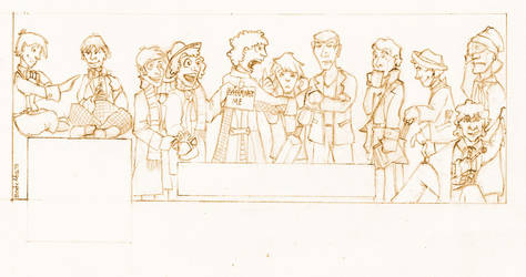 The Eleven Doctors - pencil on paper by Natala00