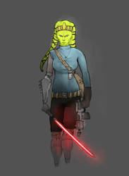 Angry Twi'lek Sith acolyte by Natala00