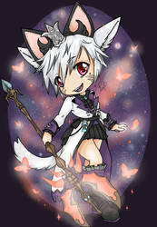 Butterfly Staff: ff14 Commission  by TheCookieClubx