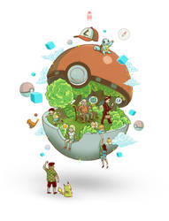 Pokemon go by motsart