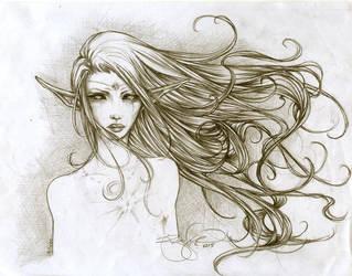 -- elf: windblown tears -- by jadedice