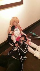 Asuna and Kirito Sword Art Online by Misha-Rbk