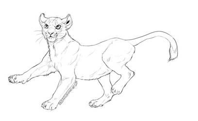 Free cub lineart by Esava
