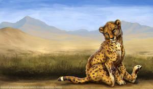 Cheetah Friend by Esava