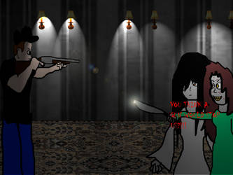 BLOODHUNTERS: DENZER FIGHTS REGAN AND SADAKO by Tinytoon70