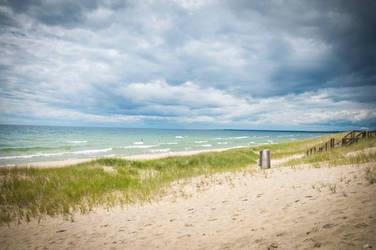 Stormy beach by toddyost