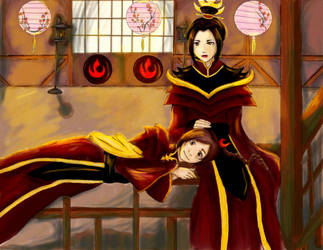 Fire Lord Azula and her Lady by NoTickleElmo