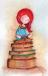 Dilia, the reading elf by isylia