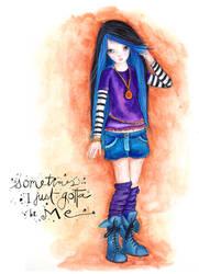 Teenage girl by isylia