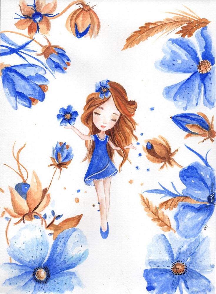 Tiny Blue Fairy by isylia