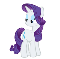 Rarity Not Amused Vector by Takua770
