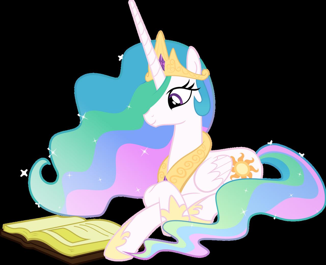 Princess Celestia Reading - Season 2 Poster by Takua770