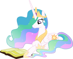 Princess Celestia Reading - Season 2 Poster by Takua770