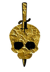 Golden Skull Graphic by TentacleBites
