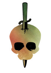 Sunset Skull Graphic by TentacleBites