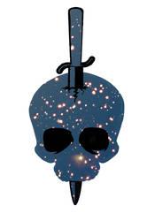 Stargaze Skull Graphic by TentacleBites