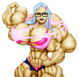 Nerd Muscle Girl by ArtofMuscle