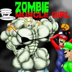Zombie Muscle Girl by ArtofMuscle