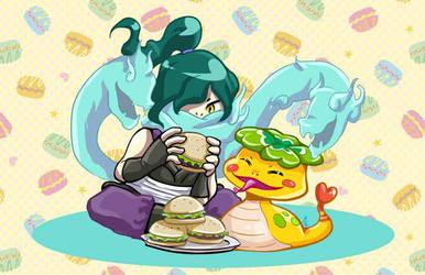 Burger Time by Elf-chuchu