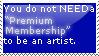 Premium Membership Stamp by Astralstonekeeper