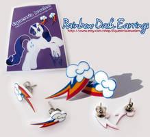 Rainbow Dash Earrings by sterlingsilver