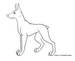 Free Dobie Lineart [OLD] by faithandfreedom