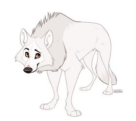 Arctic Wolf by faithandfreedom