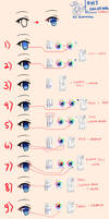 Eyes Coloring Tutorial by Kazenokaze