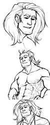Another All Might sketch dump - what a surprise by Nara-chann