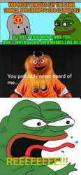 Pepe never heard of Gritty... by Shernod9704