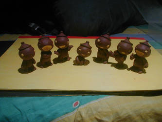 The Seven Shaolin Claypots by claysummoner